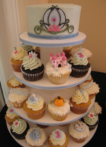 Cinderella Cupcake Tower