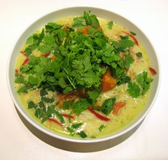 Pumpkin and tomato laksa (Simon Aughton) Tags: tomato pumpkin ginger lemon mint garlic noodles chilli lemongrass coriander coconutmilk chickenstock