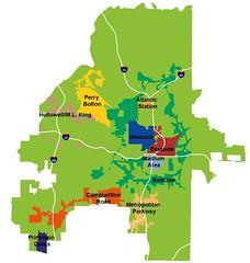 TADs in Atlanta (by: Atlanta Development Authority)