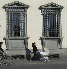 Pram between 2 windows