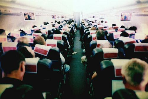 A bordo dell'aereo