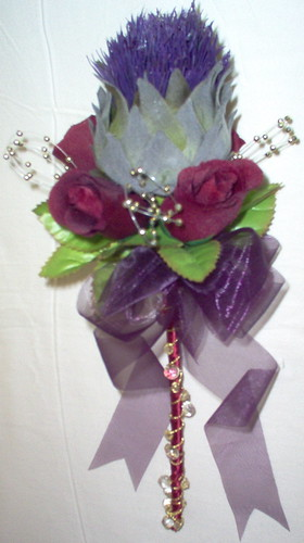 """fran"" scottish thistle & rose wand & bling by you."
