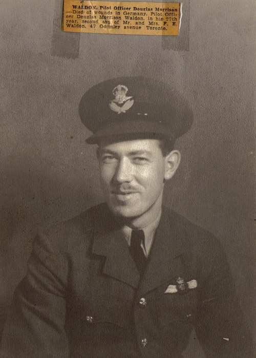 Douglas Morrison Waldon Air Force Portrait and Death Notice