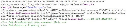 הקוד שאומניטור מטמיעה באתרי הלקוחות