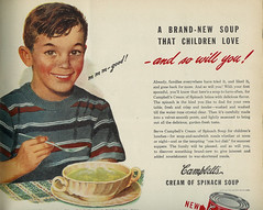 Campbell's Cream of Spinach Soup (Stuff about Minneapolis) Tags: vintage soup kid 1938 ad cream advertisement lifemagazine campbells spinach