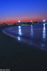 After Sunset 15/11/2008 (Nouf Alkhamees) Tags: sunset marina canon waves time after kuwait alk nono salmiya nof alkuwait    nouf     colourartaward  flickrlovers