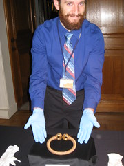 Treasure Registrar, Ian Richardson with the torc