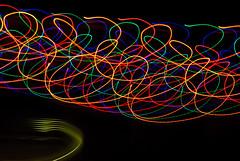 More christmas light chaos (iamspartacus9) Tags: usa lawrence colorful ks christmaslights paintingwithlight