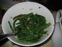 Green Beans with Hazlenut Lemon Butter