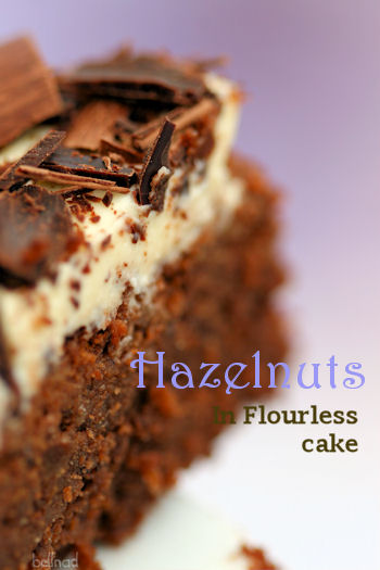hazelnut in flourless cake