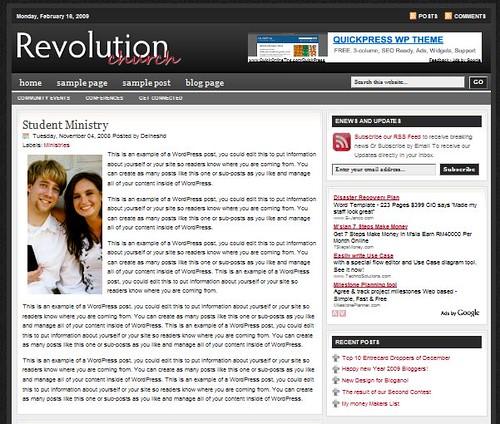 Revolution Church Blogger Template