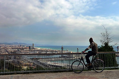 mirador (Lou Rouge) Tags: barcelona city travel sea bike landscape mar mediterraneo mare view bcn ciudad bicicleta paisaje catalonia bici urbana mirador barna poblesec montjuit miradordelalcalde gettyimagesspainq1