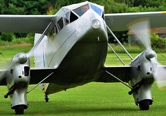 Duxfords Rapide and nosey bloke.. (mickb6265) Tags: old de collection duxford warden shuttleworth 2009 rapide havilland