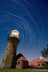 Star Trails - Barrenjoey Lighthouse by Night (-yury-) Tags: longexposure nightphotography sky lighthouse night canon stars landscape star sydney trails australia nsw 5d palmbeach barrenjoey barranjoey abigfave