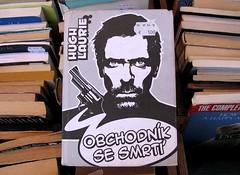 Hugh Laurie novel in Czech at a Paris bookstore