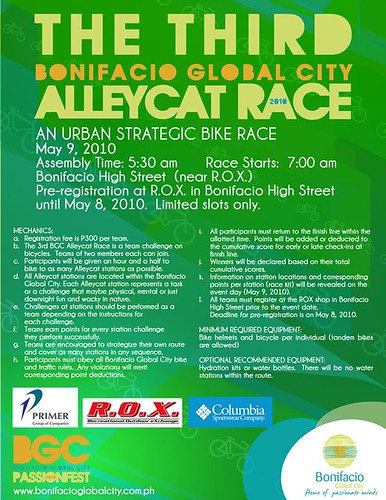 The Third Bonifacio Global City Alleycat Race