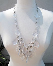 Prada+Spring+2010+Chandelier+Necklace+DIY -5, how to make a chandelier necklace, lucite necklace, diy blog, best diys, easy diys, fashion diy, do it yourself fashion, couture, top DIY blogs, links to great diys, designer inspired diy, accessories, fashion, jewelry, how to make