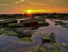 Rock Pool Sunset (PeterYoung1) Tags: light sunset sea sun sunlight seascape colour clouds landscape scotland rocks colours scenic scottish sunsets scene landschaft lightrays troon wow1 wow2 wow3 wow4 wow5 wowhalloffame mygearandme mygearandmepremium mygearandmebronze mygearandmesilver mygearandmegold