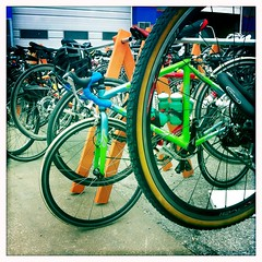 Bike rack at Tour de Brew