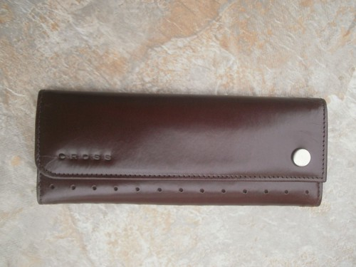 Cross Autocross Pebbled Leather Double Pen Case