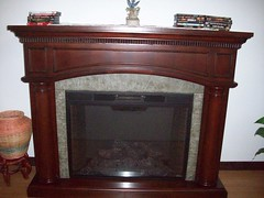Faux Fireplace (SunshineRanchRentals) Tags: show vacation arizona white mountains low rental az