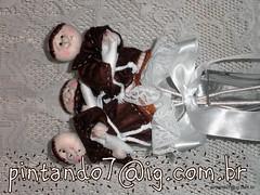 Bouquet Santo Antnio com 3 Santinhos (Mnica Pintando7) Tags: casamento santinho santoantnio lembrancinha pintando7 lembrancinhadefesta bouquetsantoantnio buquetsantoantonio