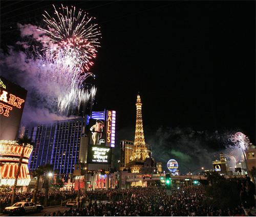 شب سال نو در لاس وگاس