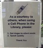 Polite Library Sign by Litandmore
