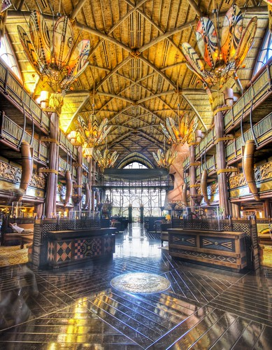 The Lobby at the Animal Kingdom Lodge - Stuck in Customs