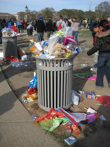 Rainbow Trash Can