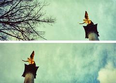 Munich: for *ailicec* (Giorgio Verdiani) Tags: leica angel germany munich panoramic monaco angelo aps germania 400asa 400iso panoramico c11 pointandshot advancedphotosystem panoramicformat formatopanoramico ailicec