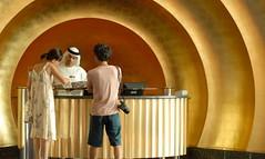 Concierge at the Burj-al-Arab Hotel Dubai (Paul_Fisher) Tags: hotel al nikon dubai rich uae tourist arab nikkor luxury 7star wealth checkin burj millionaire concierge d300