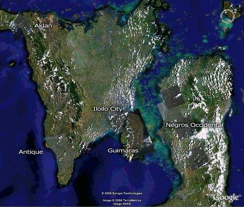 Western Visayas on Google Earth