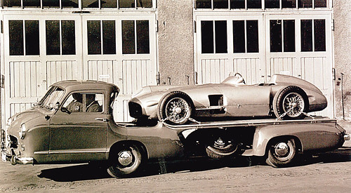 MERCEDES BENZ RENNTRANSPORTER (1954) (by flakahoo)