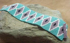 884a903b8f7 Western Style Beaded Cuff Bracelet (Forbes Farm) Tags  purple turquoise  indian jewelry bracelet