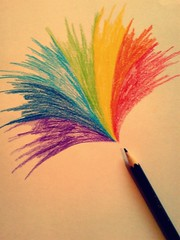 #23/365- Happy Rainbow week everybody!!! (Her life in pictures) Tags: pictures life color colour pencil is rainbow awesome explosion her explore 365 burst whoosh minski zenhe