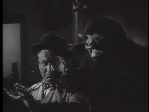 Pat Patton backs into a gorilla