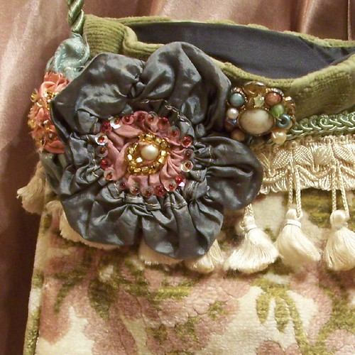 Hand Made Carpet Bag Purse From Vintage Tapestry
