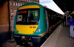 MML 170106 at Leicester Station (translboro) Tags: train leicester turbostar dmu midlandmainline 170106 class170