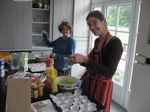 Préparation des cupcakes