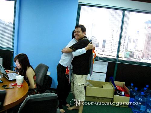 tim hugging simon