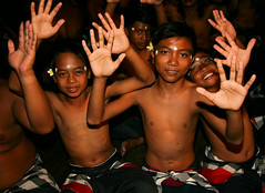 Dance 12 (wjankowsky) Tags: vacation people bali flower kids indonesia island decoration dancer hanoman