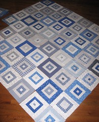 Blue & White Quilt Progress