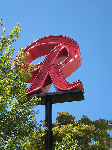 Old Rainier Sign at Red Door