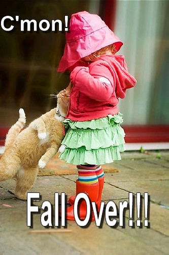 FALL OVER!