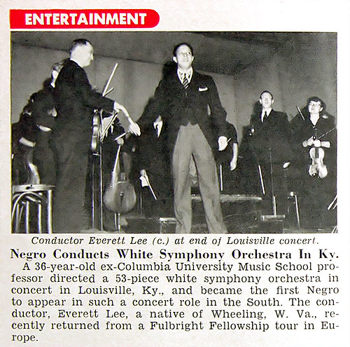 Everett Lee Conducts White Symphony Orchestra in KY - Jet Mag, Oct 1, 1953 por vieilles_annonces.