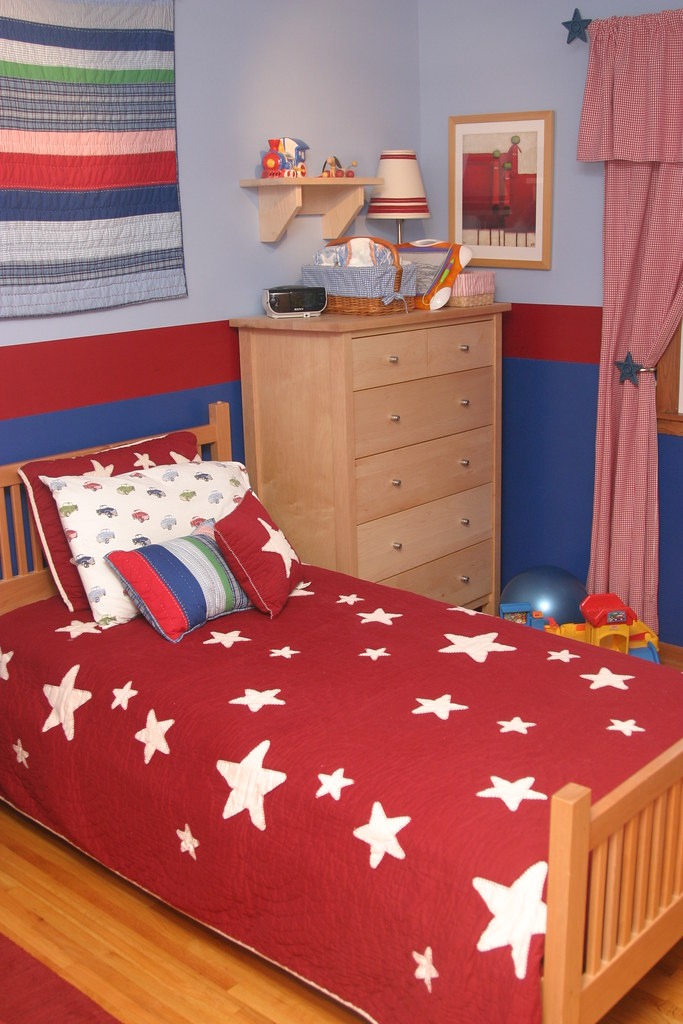 Red and Blue Boy's Room