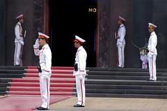 honor guard (eb78) Tags: travel asian asia southeastasia vietnamese tomb guard vietnam communist communism viet mausoleum ha hanoi nam noi indochine hochiminh indochina honorguard travelphotography travelphotos authoritarian northvietnam