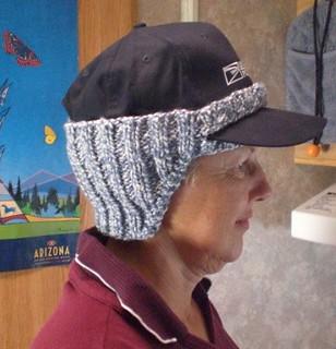 Free Knitting Pattern Ear Warmer Hat : Ravelry: Ear Warmer for Baseball Hat pattern by Susan Snyder
