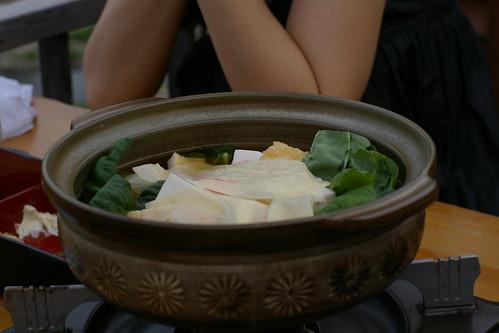 京豆腐の鴨川なべ